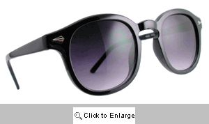 Aspen Rounded Sunglasses - 593 Black