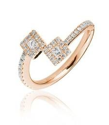 Buy Cara beautiful ending princess cut all studded ring made in sterling silver and swarovski stone for women Ring online