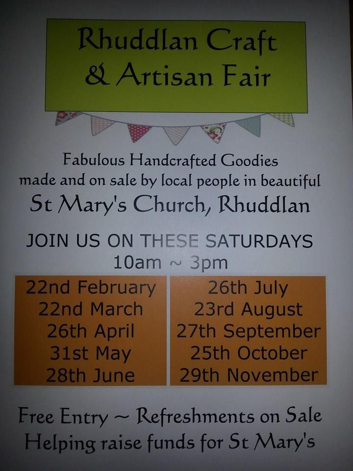 Rhuddlan Craft and Artisan Fairs 2014