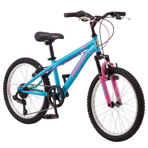 "Girls Mountain Bike 20"" Mongoose Byte Bicycle Suspesion 7-speed Twist Shifters #Mongoosebike"