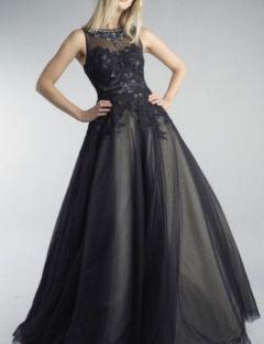 Basix Black Label Formal Black Evening Ball Gown