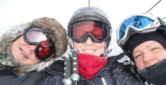 My ski buddies
