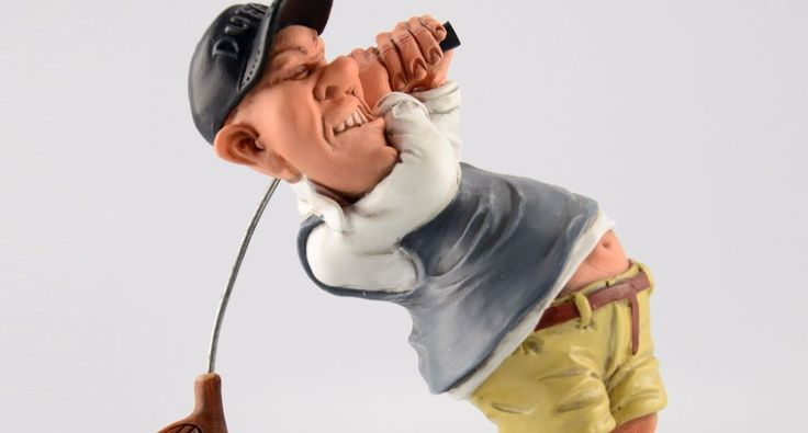 Golfer and Golfing Collectible and Retirement Gift #golf #collectible #collectable #christmas #holiday #funny #figurine #statue #fathers day #birthday #warrenstratford