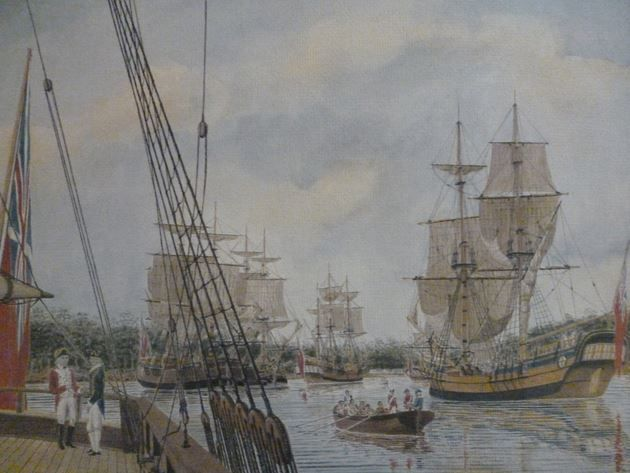 Arrival of the First Fleet in Australia The first known landing in Australia by…