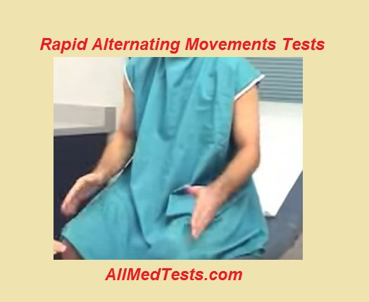 Rapid Alternating Movement Tests: Its Procedure + Videos