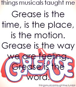 "Now I will be singing this song in my head all day~  Love the movie ""Grease"""