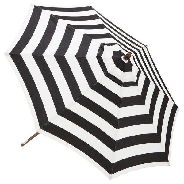 Pottery Barn Sunbrella® Round Umbrella   Awning Stripe (1.115 RON) ❤ Liked  On
