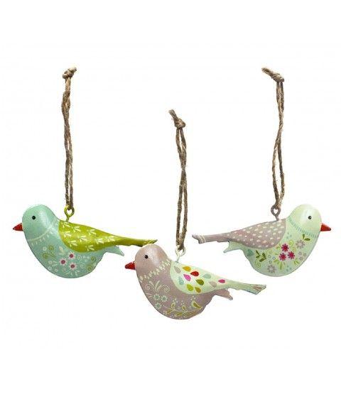 """Wendekreis 3tlg. Set 7cm Hänge-Dekoration """"Lovely Birds"""" Aufhängen Fenster Deko Vögeln  - 2-flowerpower"""