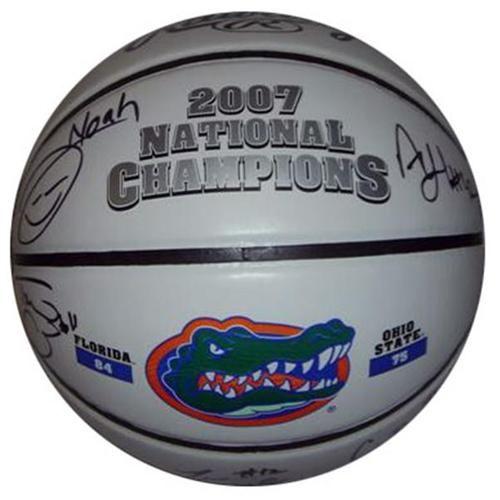 "Florida Gators ""Starting 5"" and Chris Richard Autographed 2007 Final Four Basketball #SportsMemorabilia"