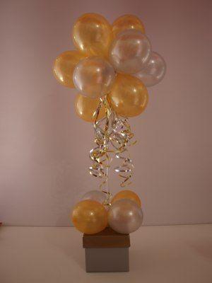 gold balloon centerpiece