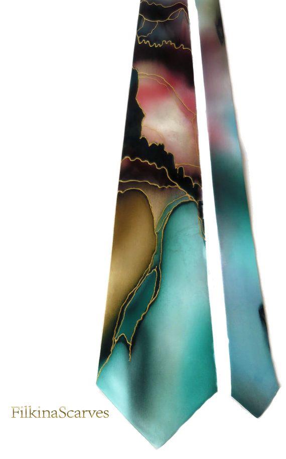 Mens Silk Pocket Square - Painted Glitter Blue by VIDA VIDA 4SdtKQLaqs