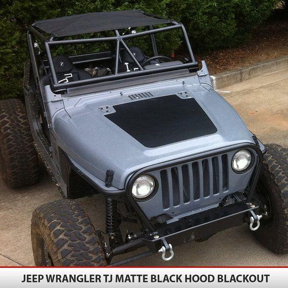 Jeep+Wrangler+TJ+9706+Blackout+Hood+Decal+Vinyl+by+AlphaVinyl,+$35.95