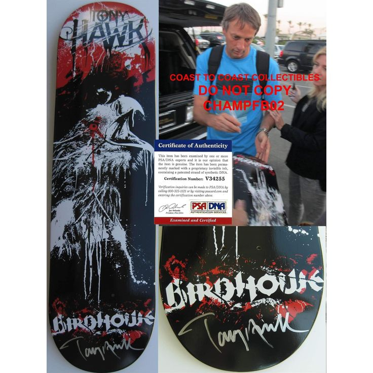 Tony Hawk, Signed, Autographed, Birdhouse Skateboard Deck, a PSA DNA COA and the Proof Photo of Tony Signing Will Be Included