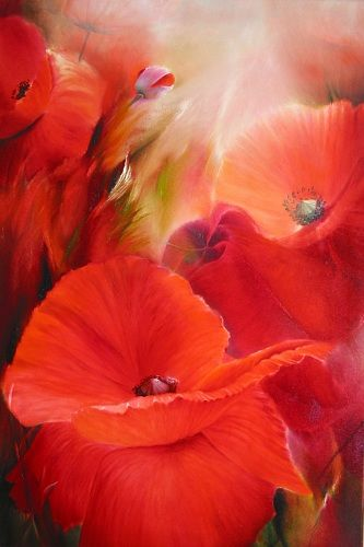 poppy illustration - is it acrylic, oil or a photo!???