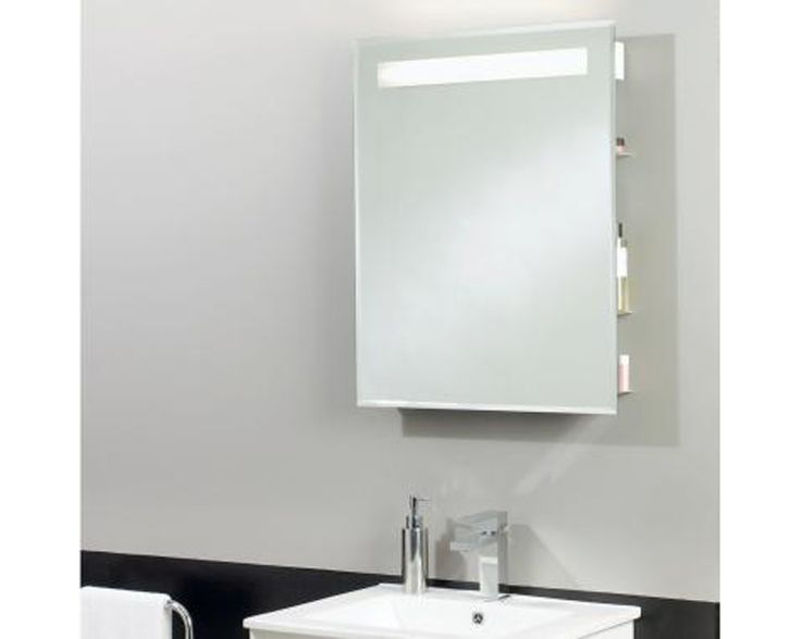 Bathroom Shelf With Mirror And Light