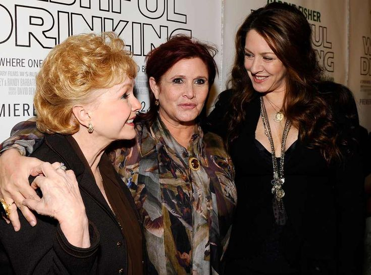 Hanging With Joely from Debbie Reynolds & Carrie Fisher's Mother-Daughter Moments  The two appear with Carrie's sisterJoely Fisher atapremiere of Carrie'sHBO documentary Wishful Drinking, which is based on the hitstage production of the autobiographical tale of her life, in 2010.