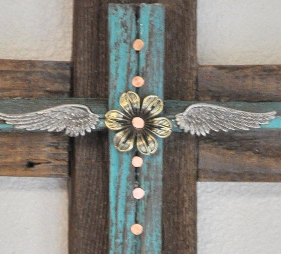 No western home is complete without a rustic reclaimed wood cross....