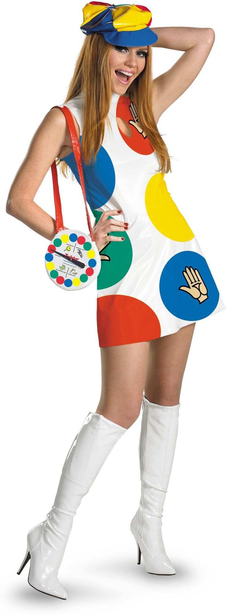 twister sexy deluxe adult womens costume - Board Games Halloween Costumes