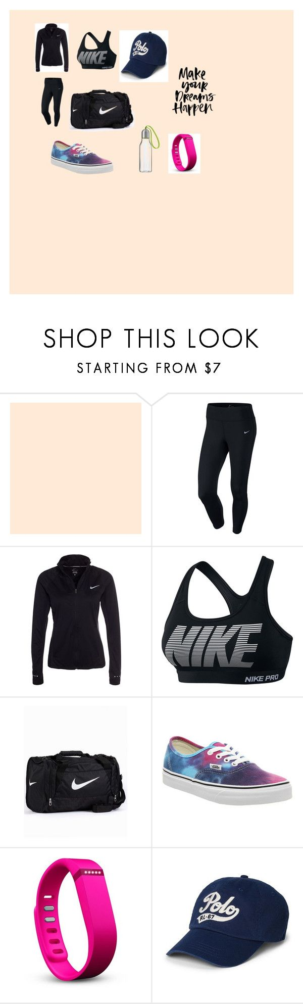 """sportswear.."" by marcia-naftal on Polyvore featuring NIKE, Vans, Fitbit, Polo Ralph Lauren, Eva Solo, women's clothing, women, female, woman and misses"