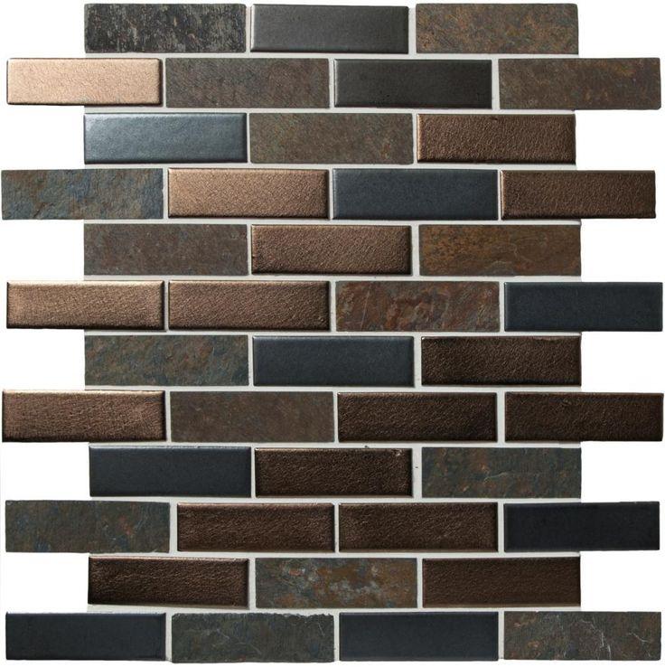 Naga Brown and Grey Mosaic Tile