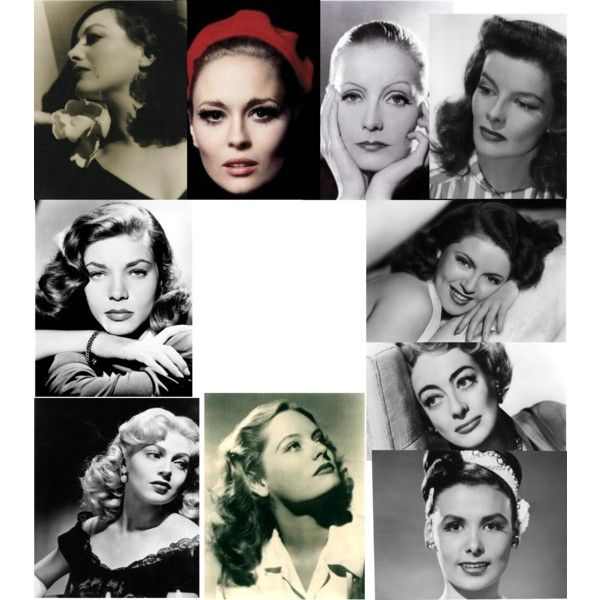 "Kibbe's Original ""Dramatic"" Archetypes: Sheryl Lee Ralph, Katharine Hepburn, Lena Horne, Lana Turner, Joan Crawford, Lauren Bacall, Barbara Herrera, Kathleen Turner, Faye Dunaway, Maggie Smith, Alexis Smith, Greta Garbo, Rosalind Russell 