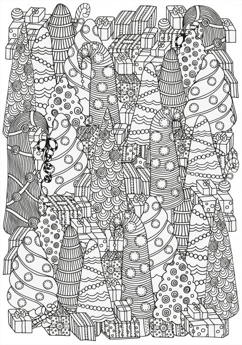 Christmas Coloring Pages Advanced : Best images about advanced christmas coloring on