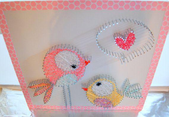 Bird String Art String Art Custom Wall Art by OrgaknitsbyBrielle