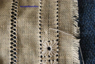 Drawn thread and pulled thread embroidery......