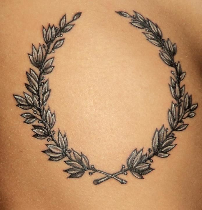 laurel flower wreath tattoo - Google Search