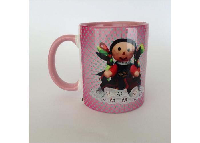 Buy: Taza con diseño artistico muñequita Michoacana