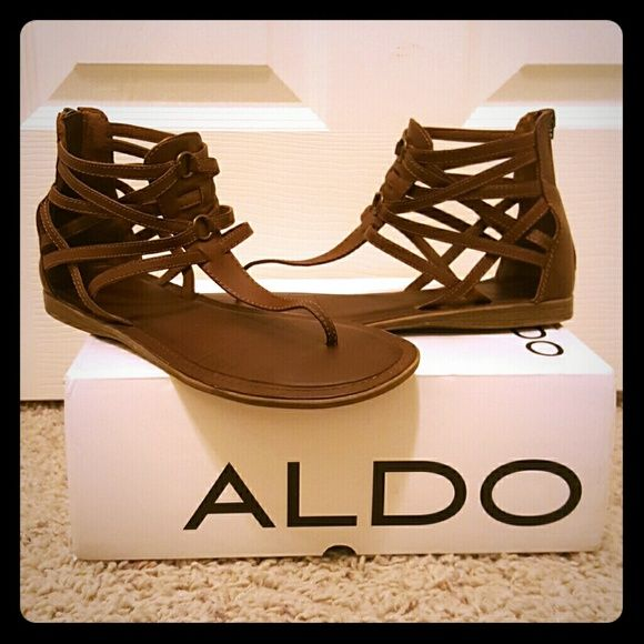 Brown Gladiator Sandals These Aldo sandals are great in the summer! Can be paired with casual dresses, shorts, or skinny jeans.   **Have been worn a few times. Come in original box** ALDO Shoes Sandals