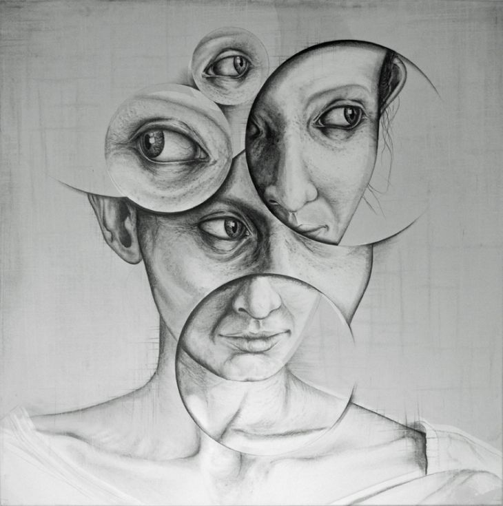 ARTFINDER: Who am I..? by andy butler - A pencil on canvas work based on the idea of how I interact with the subject and how all portraits are as much a depiction of the artist as they are the subjec…