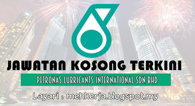 Jawatan Kosong di Petronas Lubricants International Sdn Bhd - 10 Sept 2016   PETRONAS Lubricants International Sdn. Bhd (PLI) is a global oil lubricant business with operations in more than 20 countries worldwide which includes manufacturing marketing and distribution of high-end lubricants transmission anti-freeze and functional fluids for automobiles motorcycles trucks agricultural tractors and earth moving machinery as well as for other industrial equipment.  Jawatan Kosong Terkini…