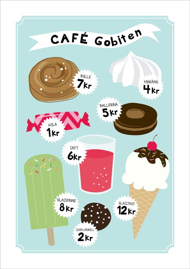Café - barnposter