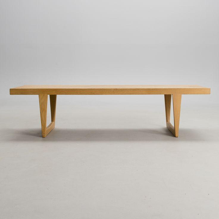 "Yngvar Sandström, OAK BENCH, ""Tokyo"", Nordiska Kompaniet, 1963. Length 140,5 cm, width 42 cm, height 45,5 cm, Sverige."