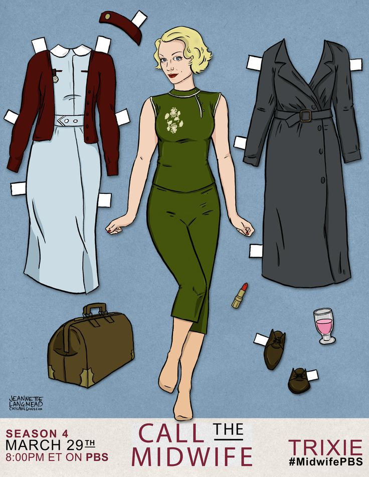 Celebrate CALL THE MIDWIFE with custom-made paper dolls of your favorite characters! Collect all four, get creative and share pics with us by using #MidwifePBS.
