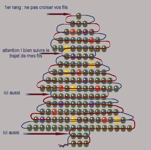 Beaded Xmas Tree ornament