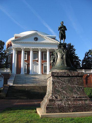 Charlottesville Virginia: University of Virginia Rotunda  The University of Virginia was founded in 1819 and originally designed by Thomas Jefferson.