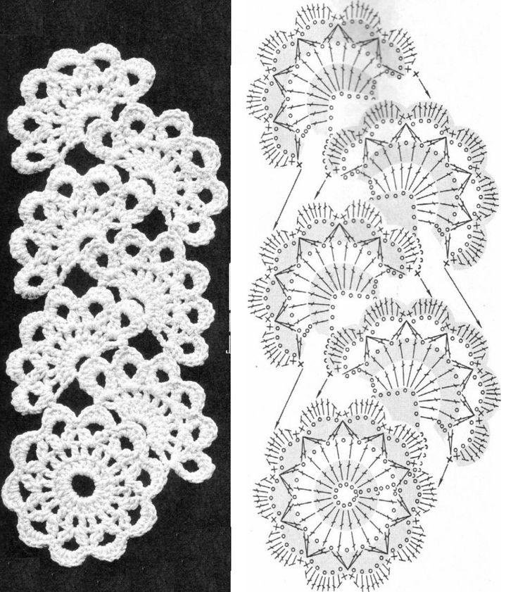 лучшие схемы для вязания ленточного кружева - Поиск в Google