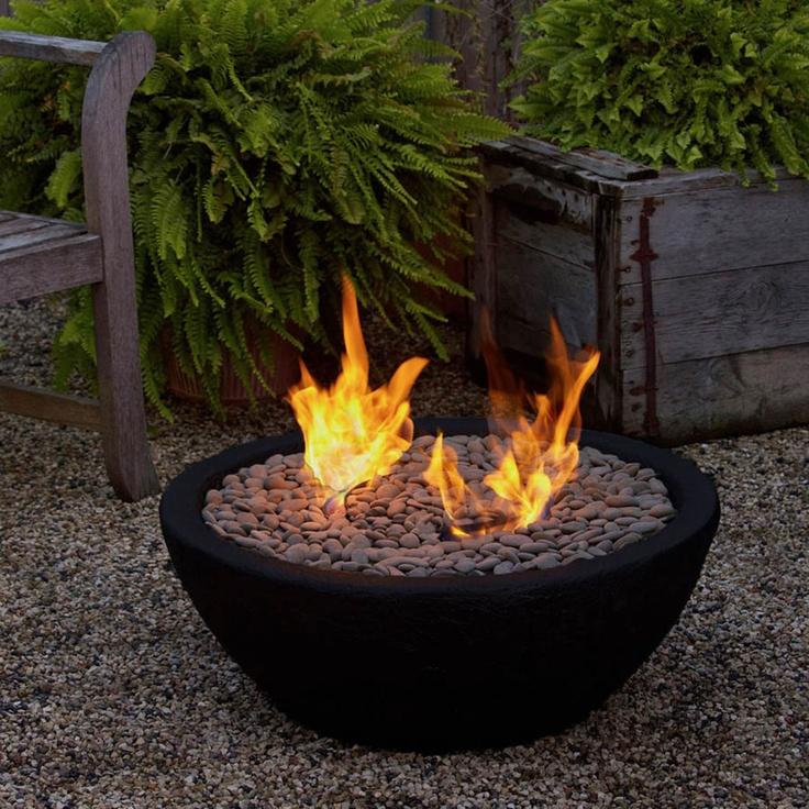 Real Flame Hampton Fire Bowl In Black