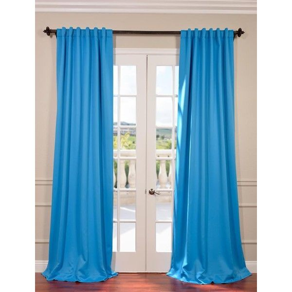 Malibu Blue Blackout Curtain ($40) ❤ liked on Polyvore featuring home, home decor, window treatments, curtains, blackout curtains, black out window treatments, blue home accessories, blue curtains and blue draperies