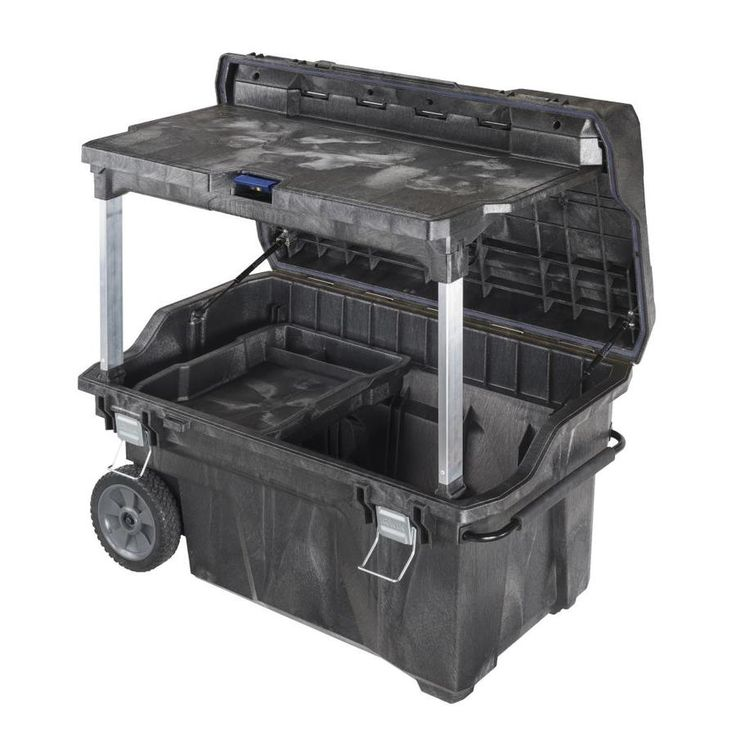 IRWIN Mobile Command Center 40.5-in Gray Structural Foam Lockable Wheeled Tool Box