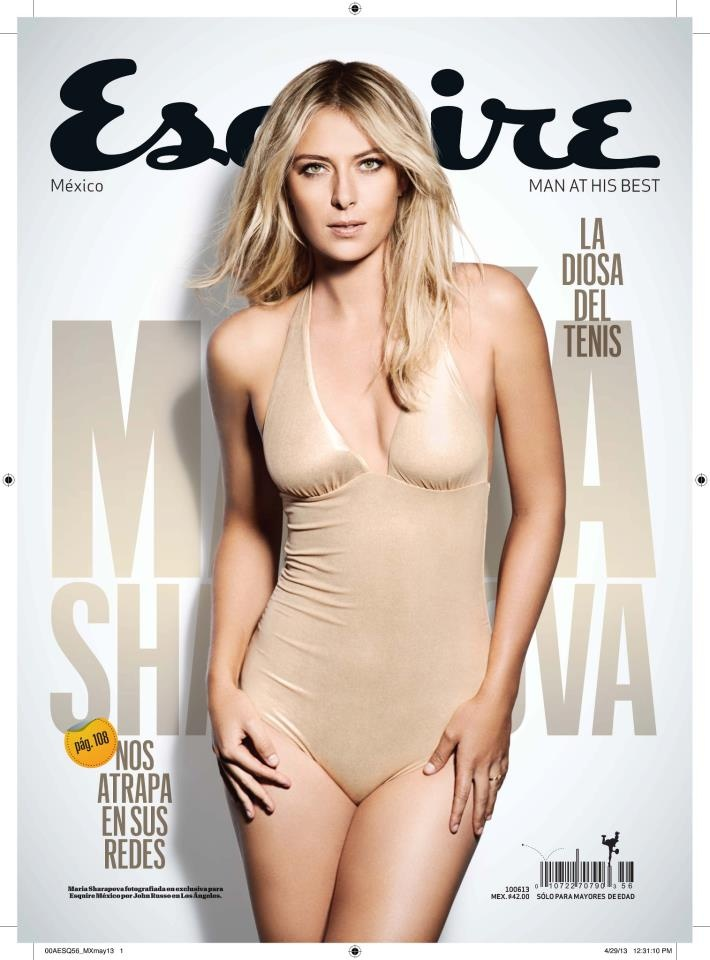 Maria Sharapova for Esquire Mexico : May/June 2013 Entire Spread @ http://magspider.blogspot.in/2013/05/maria-sharapova-for-esquire-mexico.html
