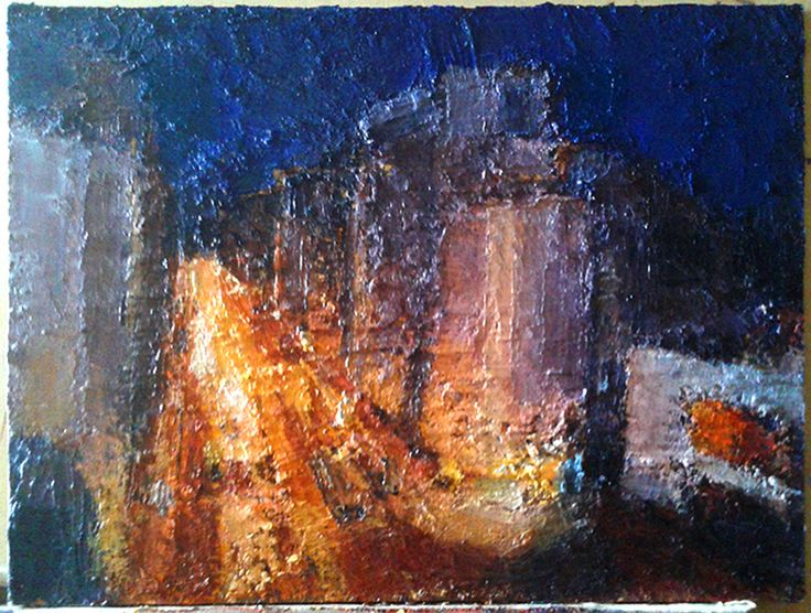 nighttime oil painting