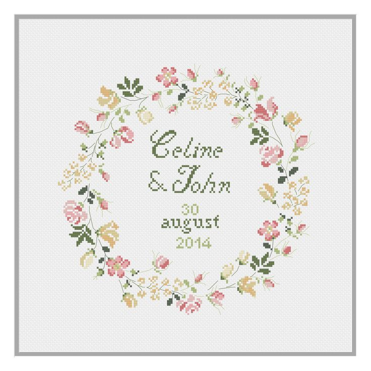 Wedding Celebration Cross Stitch Pattern PDF Download by HeartyCraftology on Etsy https://www.etsy.com/listing/471548693/wedding-celebration-cross-stitch-pattern