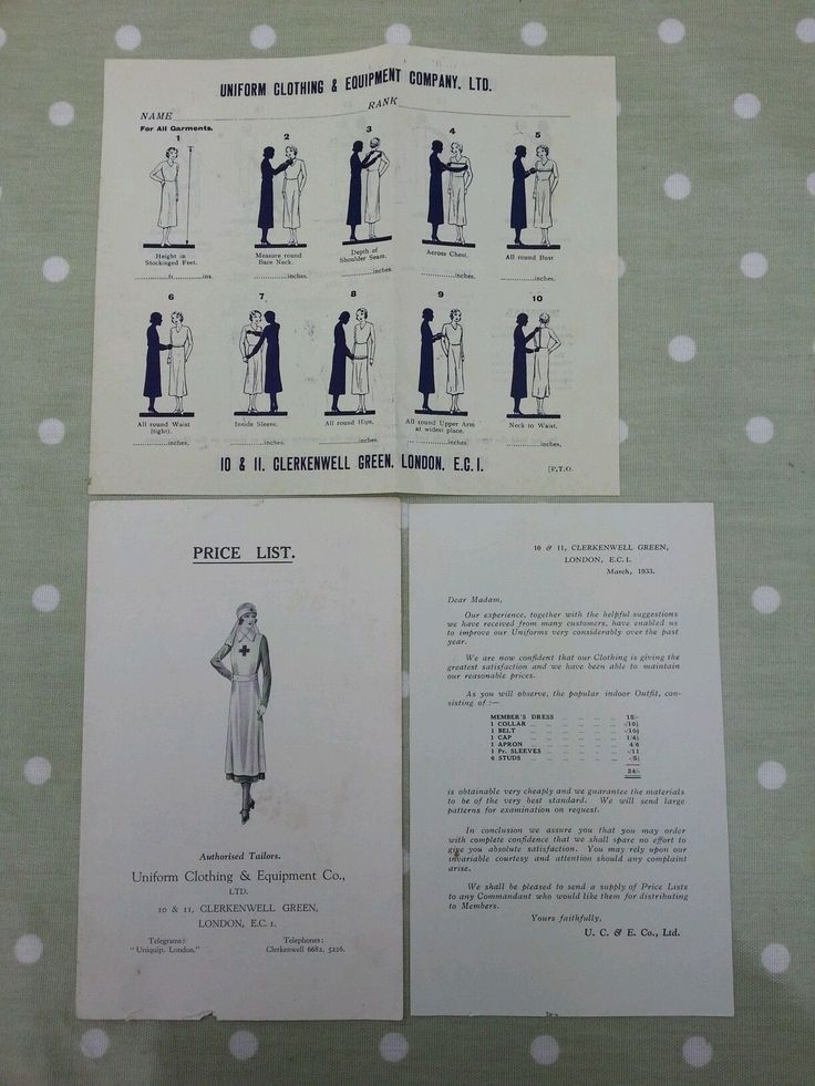 VINTAGE PRICE LIST FOR AUTHORISED TAILORS.UNIFORM CLOTHING AND EQUIPMENT CO LTD. | eBay
