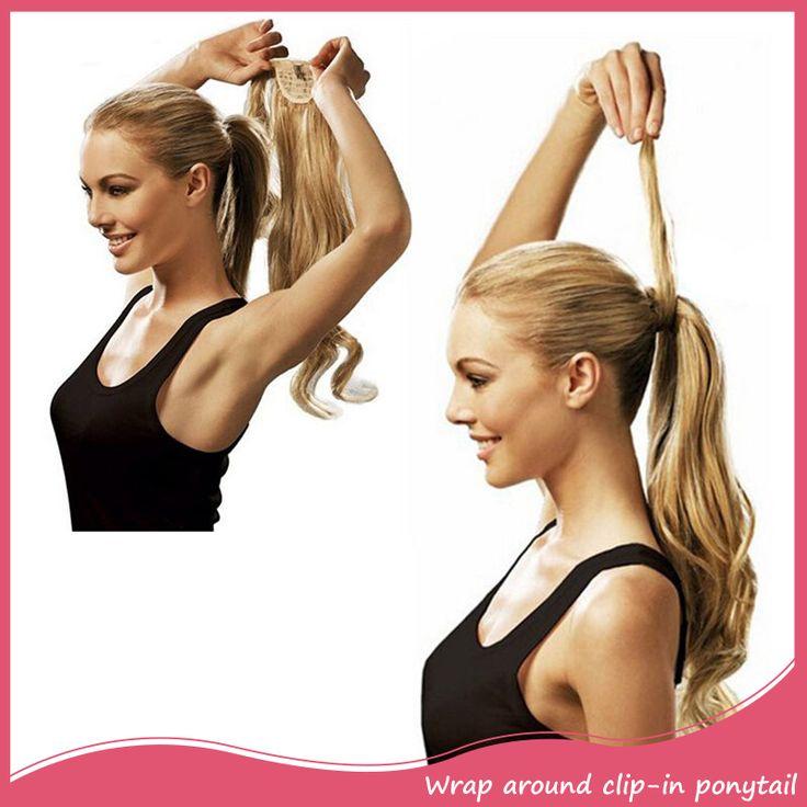"""20 """"synthetisch Haar Lange Golvende Clip In Lint Paardenstaart Hair Extensions Krullend Haarstukje Nep Haar Staartjes Paardenstaarten Haarstukken"""