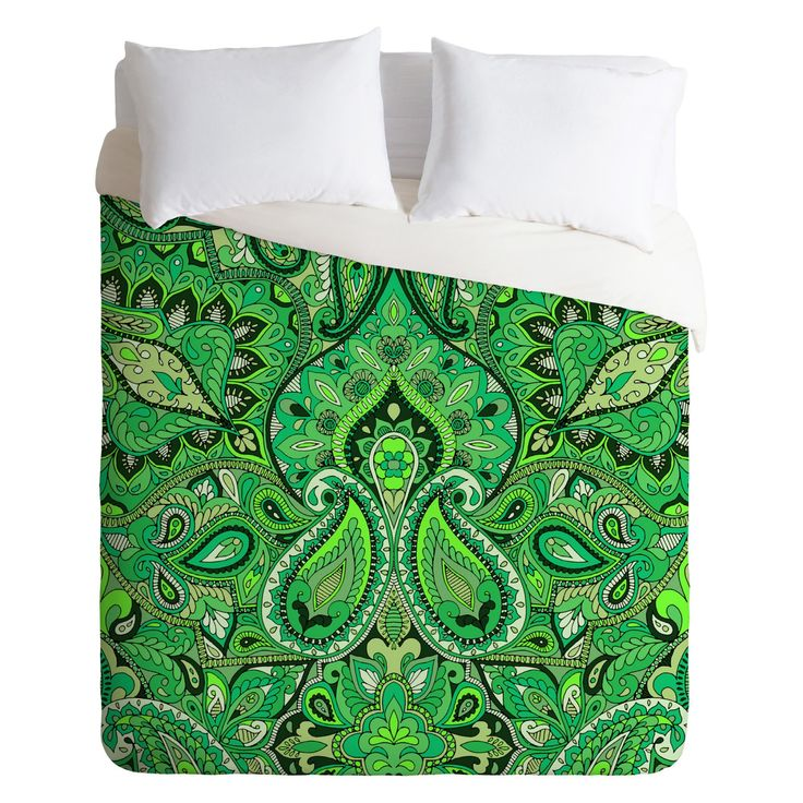 Aimee St Hill Paisley Green Duvet Cover by DENY Designs - 16321-DLIKIN