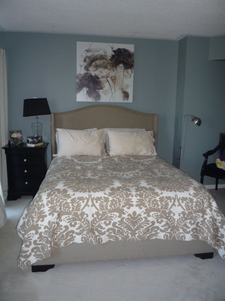 Dark Blue Master Bedroom Paint