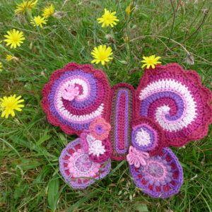 Sommerfugl hæklet butterfly crochet